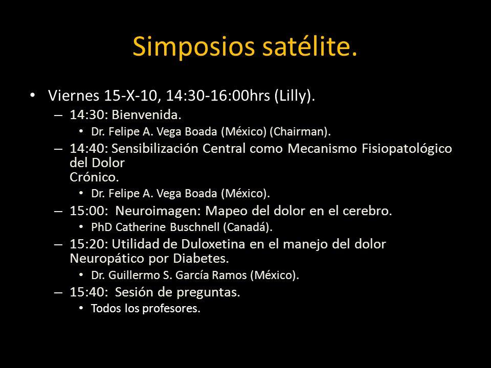 Simposios satélite.Viernes 15-X-10, 14:30-16:00hrs (Lilly).