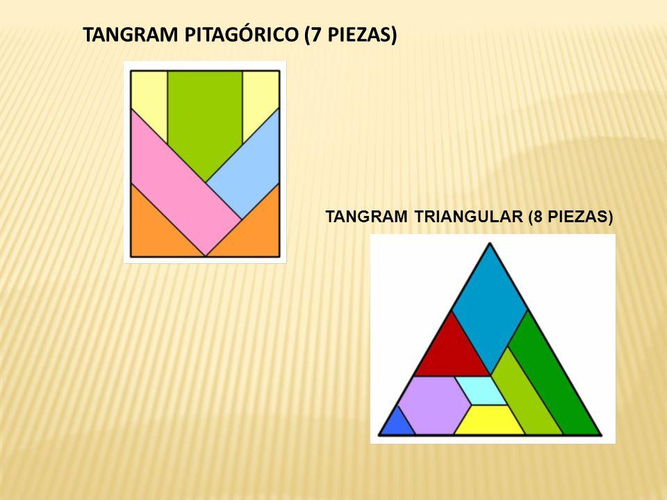 TANGRAM PITAGÓRICO (7 PIEZAS) TANGRAM TRIANGULAR (8 PIEZAS)
