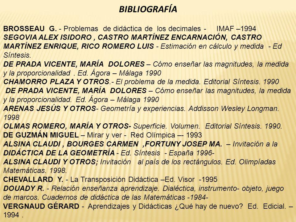 BIBLIOGRAFÍA BROSSEAU G.