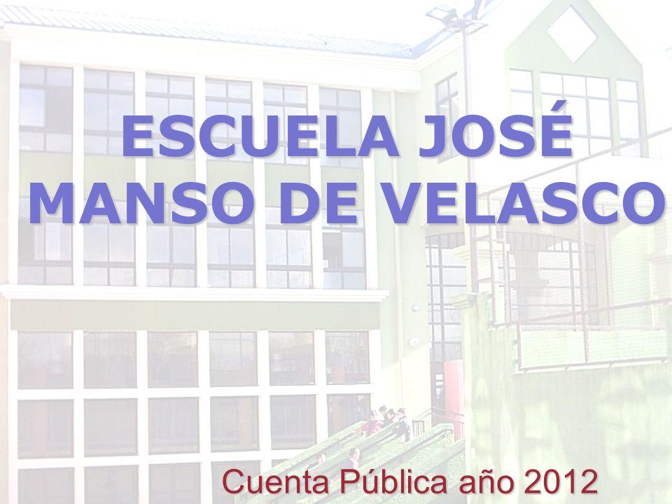 ESCUELA JOSÉ MANSO DE VELASCO Cuenta Pública año 2012