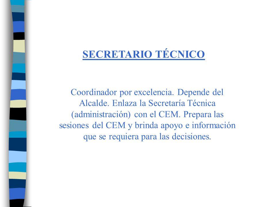 SECRETARÍA TÉCNICA (personal operativo) Ejecutan los subsistemas administrativos de la Educación.