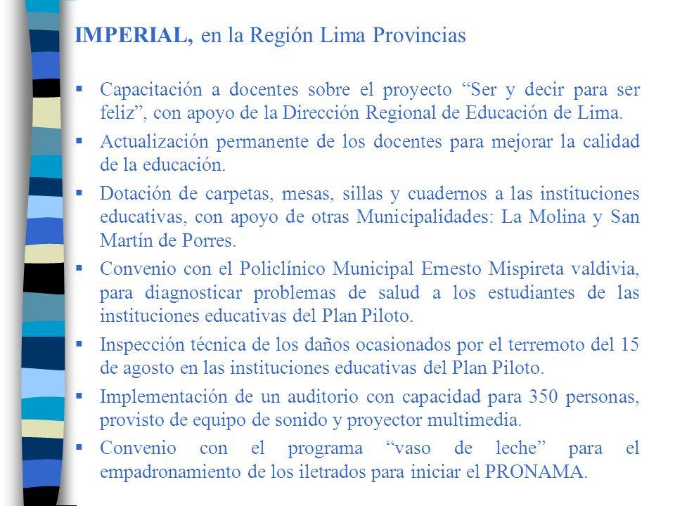 KIMBIRI, en la Región Cusco Difusión, sensibilización y capacitación a los directores, docentes, autoridades comunales, APAFAs, representantes de los CONEIs y representantes de organizaciones sociales del distrito de Kimbiri.