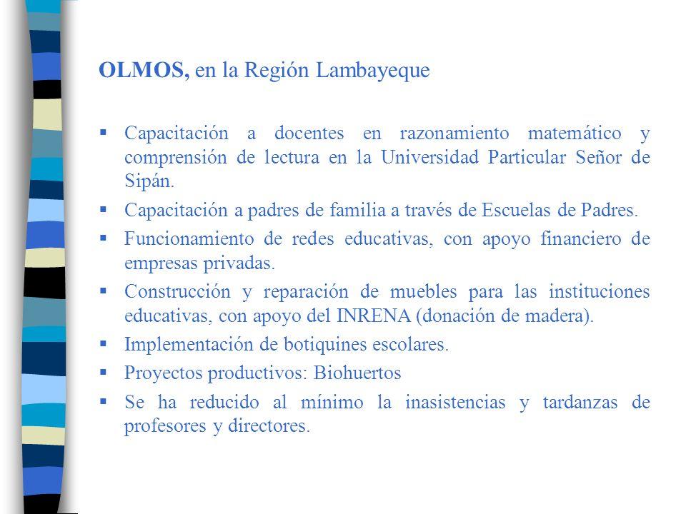 PACUCHA, en la Región Apurímac Elaboración y ejecución del Plan de Monitoreo y Acompañamiento, en beneficio de 22 Instituciones Educativas y 120 docentes.