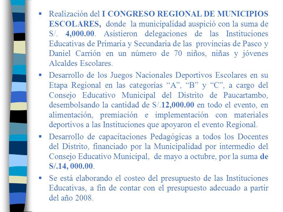 SANTO DOMINGO, en la Región Piura Aplicación de un examen tipo MEDERE para medición del rendimiento escolar.