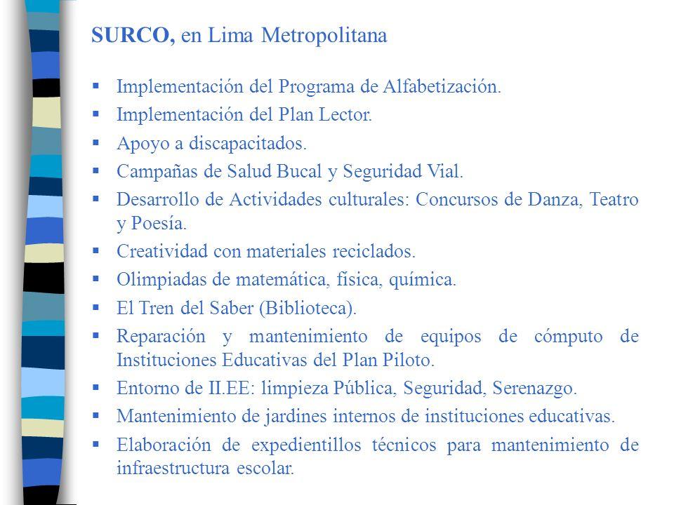 TALAVERA, en la Región Apurímac Participación activa en la formulación del Plan de Capacitación de la Provincia de Andahuaylas, para docentes que no participan del PRONOCAP del Ministerio de Educación, que se ejecutará a partir del 20 de Octubre del año en curso, con el financiamiento de las Municipalidades de la Provincia de Andahuaylas, la UGEL, y el Sindicato.