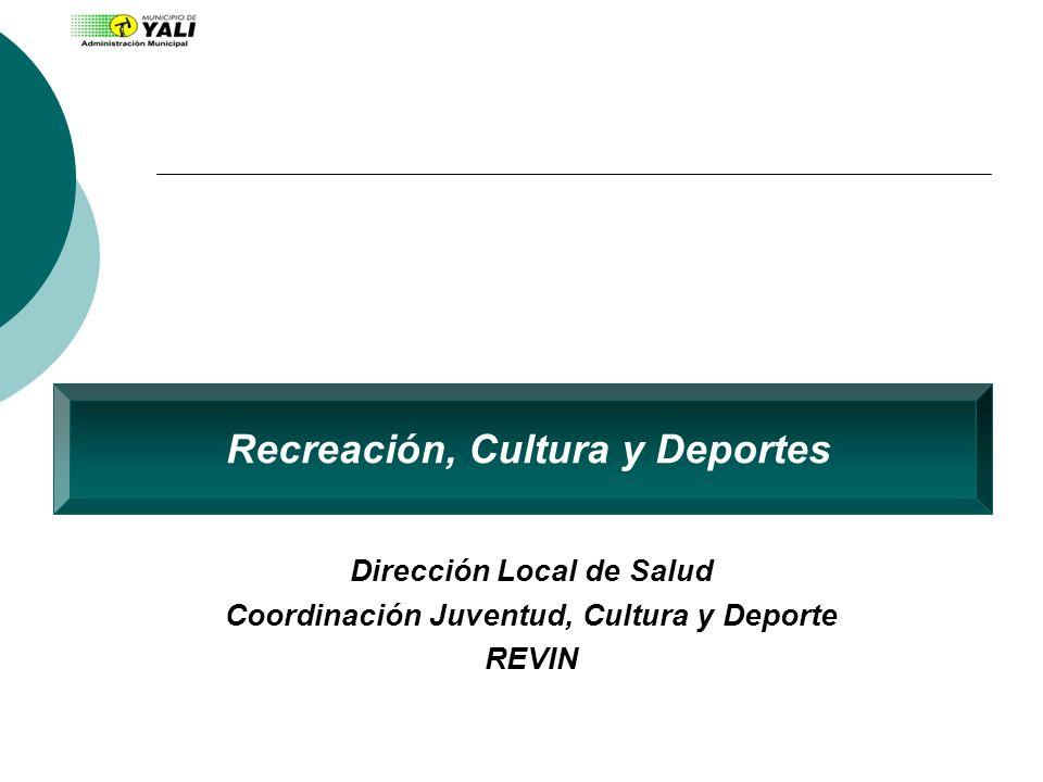 Recreación, Cultura y Deportes Dirección Local de Salud Coordinación Juventud, Cultura y Deporte REVIN
