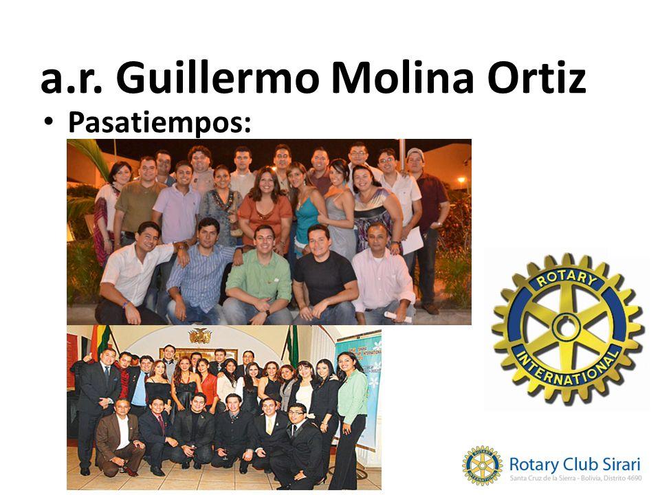 Pasatiempos: a.r. Guillermo Molina Ortiz