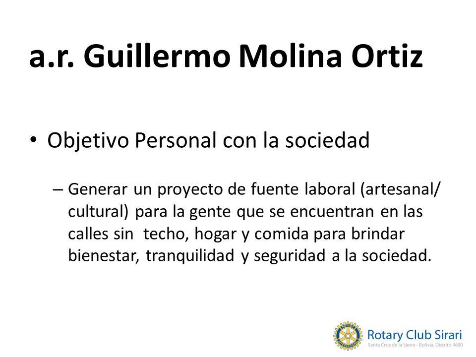 Objetivo Personal con la sociedad – Generar un proyecto de fuente laboral (artesanal/ cultural) para la gente que se encuentran en las calles sin tech