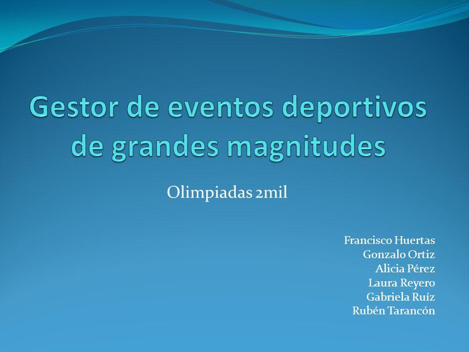 Cada competición se organiza por separado y tiene asociados unos eventos distintos.