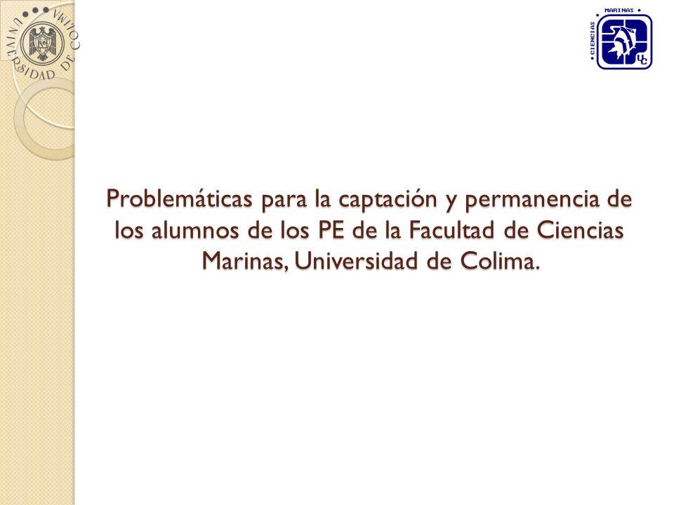 Problemáticas para la captación y permanencia de los alumnos de los PE de la Facultad de Ciencias Marinas, Universidad de Colima.