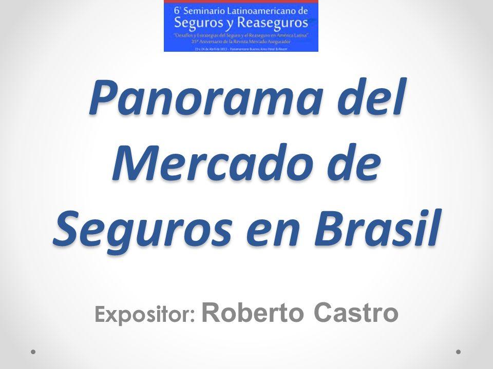 Panorama del Mercado de Seguros en Brasil Expositor: Roberto Castro