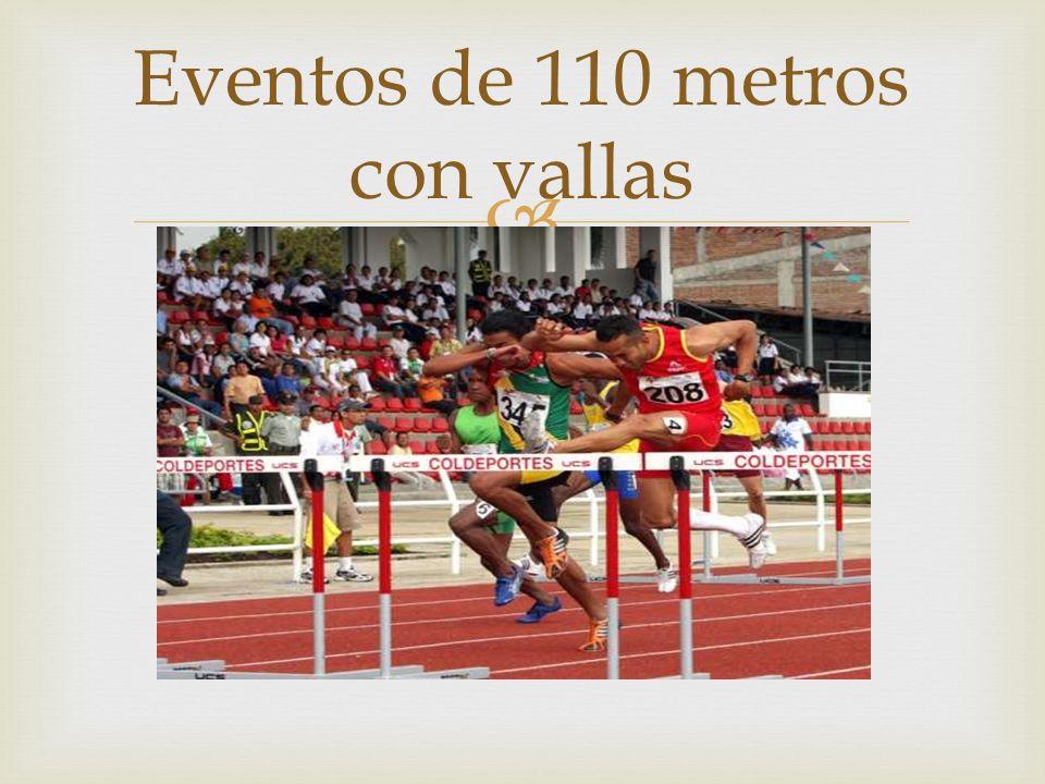 Eventos de 110 metros con vallas