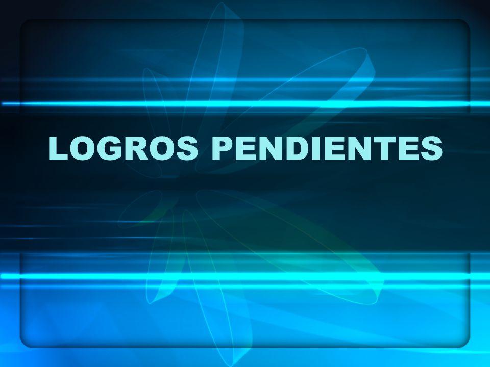 LOGROS PENDIENTES
