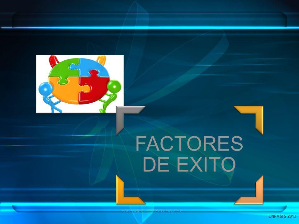FACTORES DE EXITO FACTORES DE EXITO-IUC.2012 ENFASIS 2013