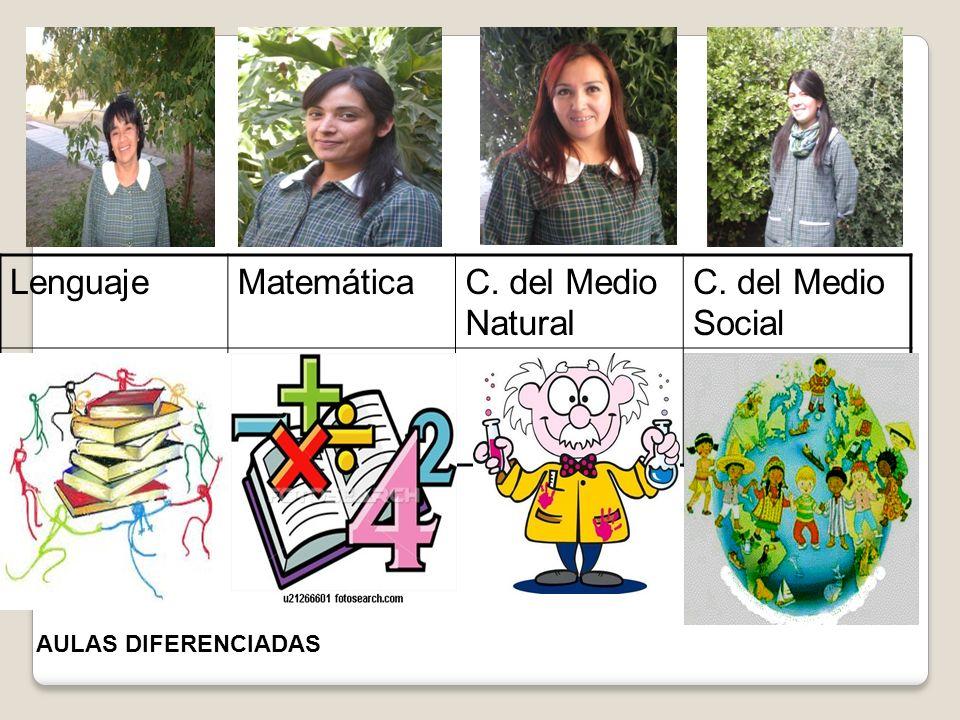 LenguajeMatemáticaC. del Medio Natural C. del Medio Social AULAS DIFERENCIADAS