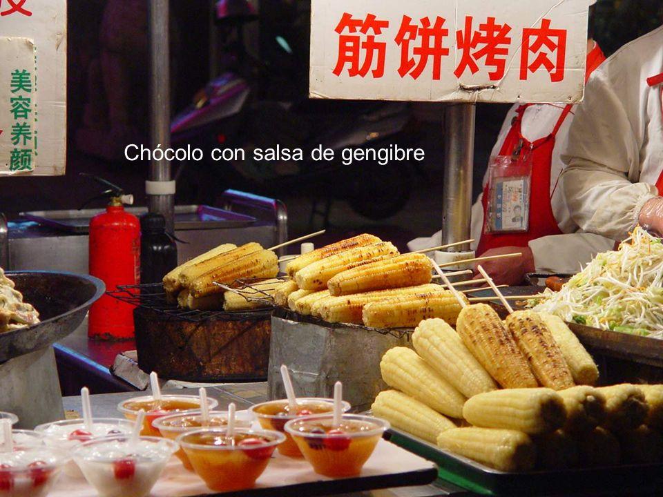 Chócolo con salsa de gengibre