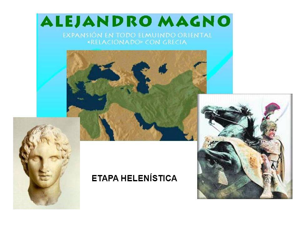 HELENISMO Período de la antigua Grecia que abarca desde el fallecimiento de Alejandro Magno (323 a C) hasta la batalla de Accio (31 a C), que supuso la conquista de Egipto (antiguo territorio ocupado por Alejandro) por parte de Roma.