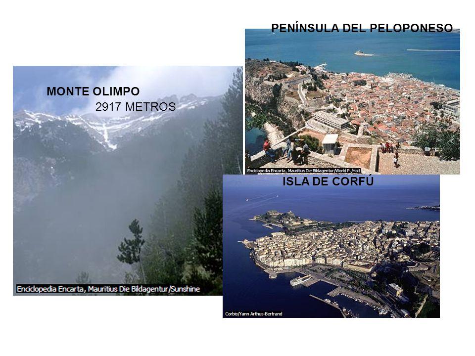 MONTE OLIMPO PENÍNSULA DEL PELOPONESO ISLA DE CORFÚ 2917 METROS