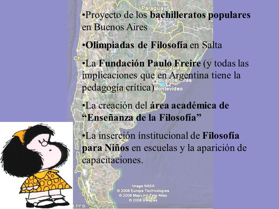 Algunas propuestas que fueron emergiendo en Argentina bajo estas premisas