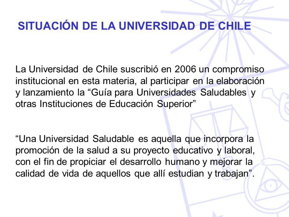 La Universidad de Chile suscribió en 2006 un compromiso institucional en esta materia, al participar en la elaboración y lanzamiento la Guía para Univ