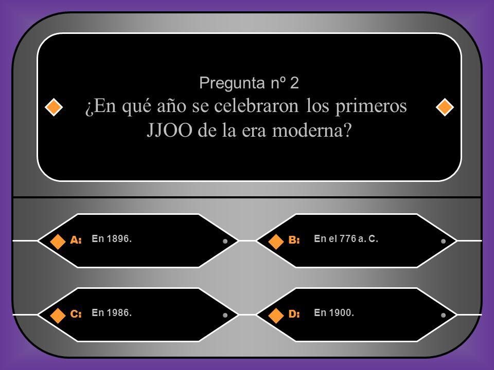 A:B: En 1896.En el 776 a.C.