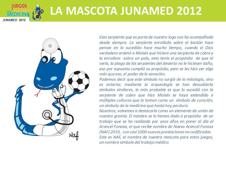 Inscripciones y más información Hospedaje y traslado a Club Médico LA MASCOTA JUNAMED 2012 N Esta serpiente que es parte de nuestro logo nos ha acompa