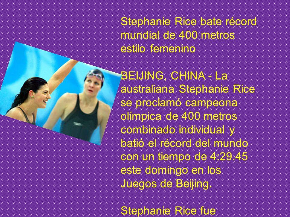BEIJING 12 ago. (Web COJOB). El día de hoy en las competiciones de natación en el Cubo Acuático de la capital china, el estadounidense Michael Phelps