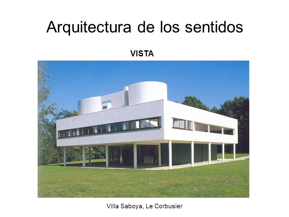 Arquitectura de los sentidos Villa Saboya, Le Corbusier VISTA