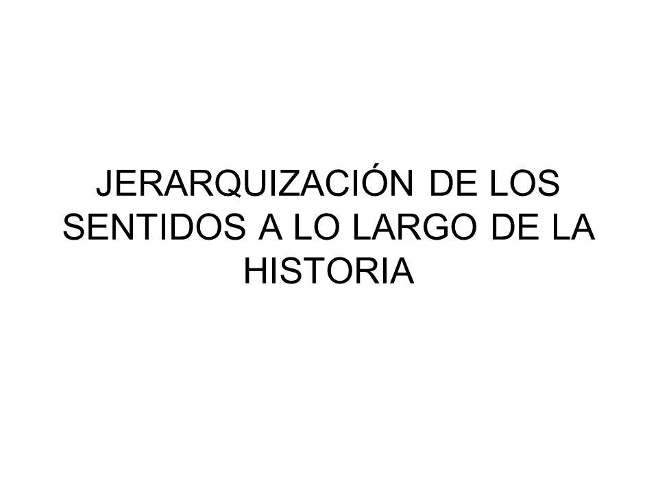 JERARQUIZACIÓN DE LOS SENTIDOS A LO LARGO DE LA HISTORIA