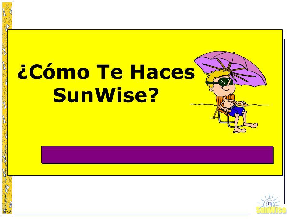 SunWiseSunWise JA K-2 11 ¿Cómo Te Haces SunWise?