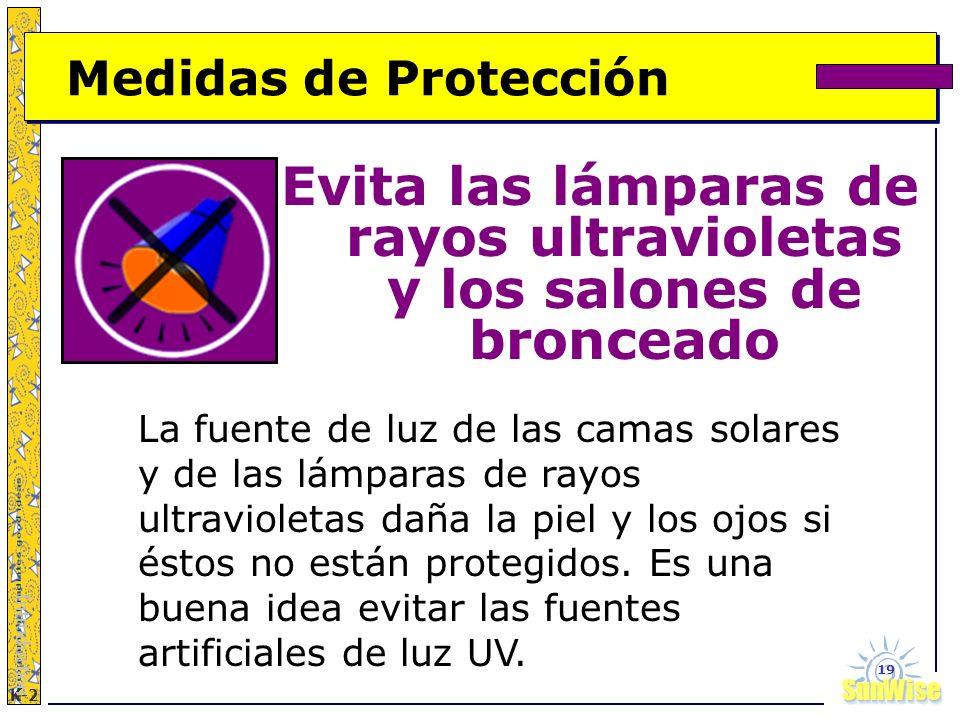 SunWiseSunWise JA K-2 19 Medidas de Protección Evita las lámparas de rayos ultravioletas y los salones de bronceado Introduction La fuente de luz de l