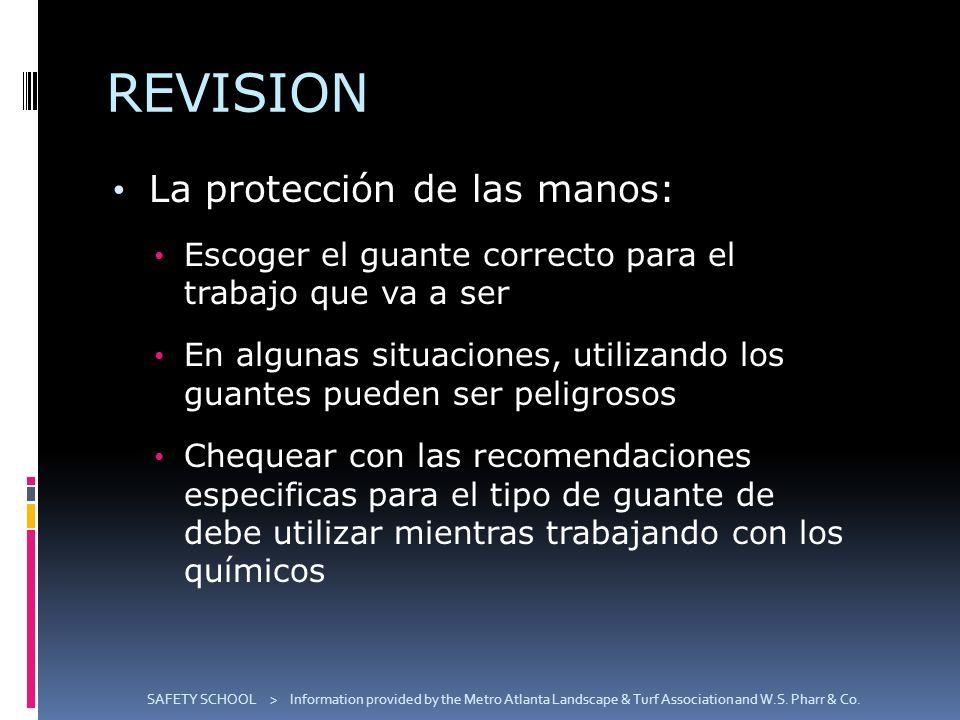 REVISION La protección de las manos: Escoger el guante correcto para el trabajo que va a ser En algunas situaciones, utilizando los guantes pueden ser