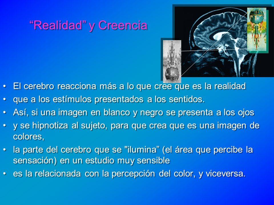 El cerebro reacciona más a lo que cree que es la realidad que a los estímulos presentados a los sentidos. Así, si una imagen en blanco y negro se pres