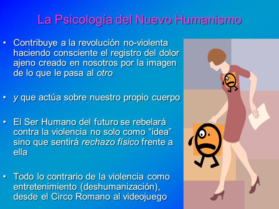 La Psicología del Nuevo Humanismo Contribuye a la revolución no-violenta haciendo consciente el registro del dolor ajeno creado en nosotros por la ima