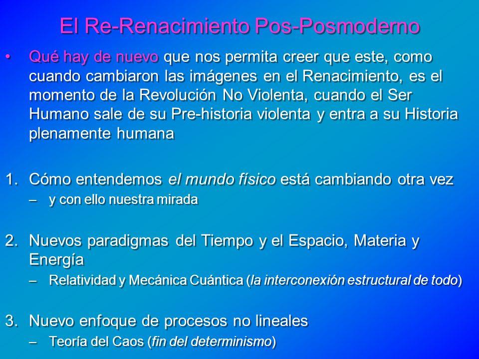 El Re-Renacimiento Pos-Posmoderno Qué hay de nuevo que nos permita creer que este, como cuando cambiaron las imágenes en el Renacimiento, es el moment