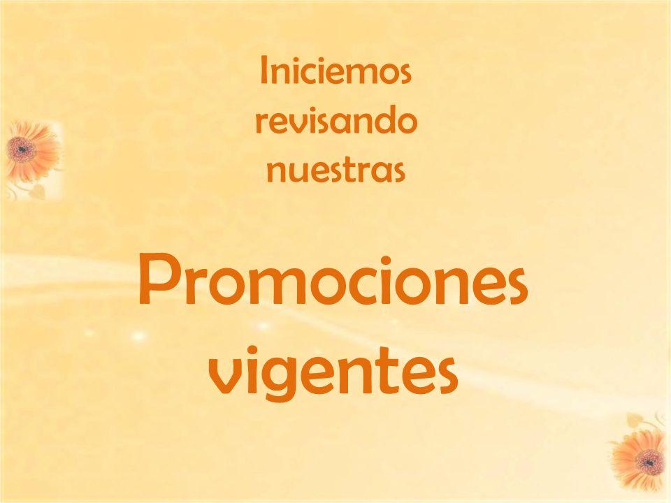 Promociones vigentes