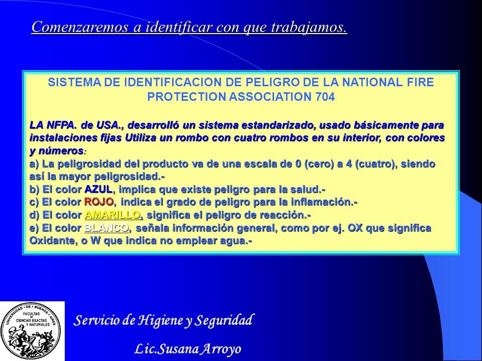 Servicio de Higiene y Seguridad Lic.Susana Arroyo