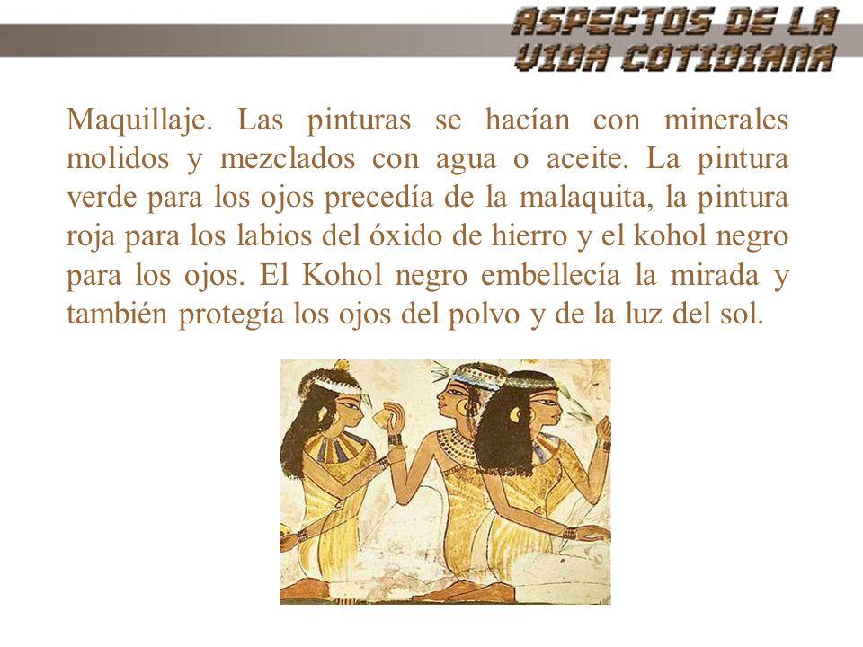 A los egipcios no les gustaba el vello corporal ni el pelo, y se afeitaban la cabeza y el cuerpo con hojas de bronce.