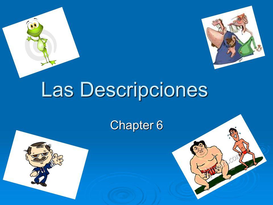 Las Descripciones Chapter 6