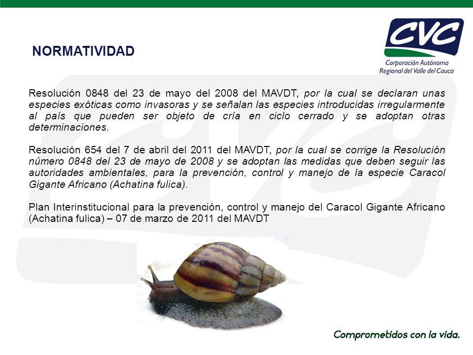 Resolución 0848 del 23 de mayo del 2008 del MAVDT, por la cual se declaran unas especies exóticas como invasoras y se señalan las especies introducidas irregularmente al país que pueden ser objeto de cría en ciclo cerrado y se adoptan otras determinaciones.