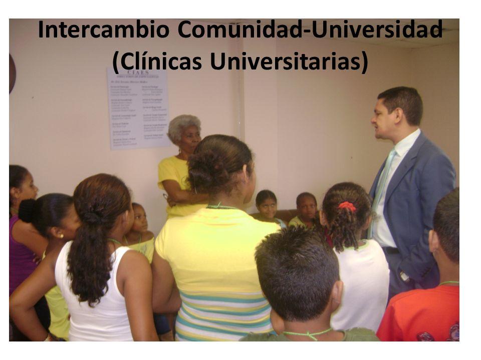 Intercambio Comunidad-Universidad (Clínicas Universitarias)
