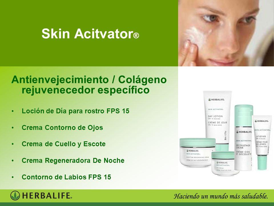 Skin Acitvator ® Antienvejecimiento / Colágeno rejuvenecedor específico Loción de Día para rostro FPS 15 Crema Contorno de Ojos Crema de Cuello y Esco