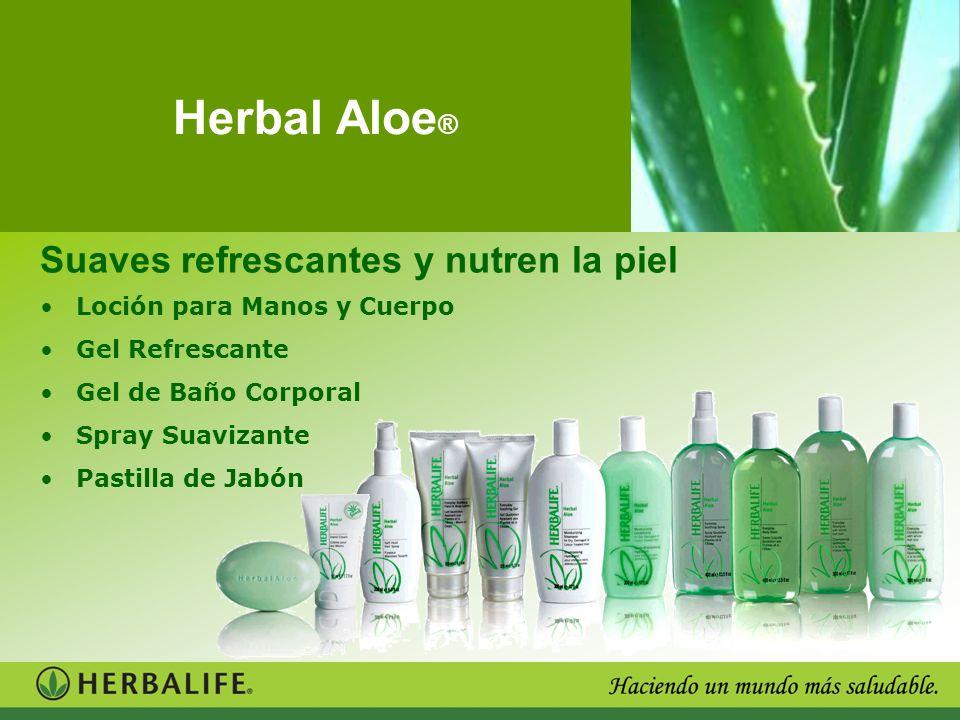 Herbal Aloe ® Suaves refrescantes y nutren la piel Loción para Manos y Cuerpo Gel Refrescante Gel de Baño Corporal Spray Suavizante Pastilla de Jabón