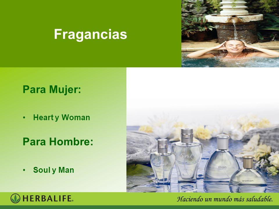 Para Mujer: Heart y Woman Para Hombre: Soul y Man Fragancias