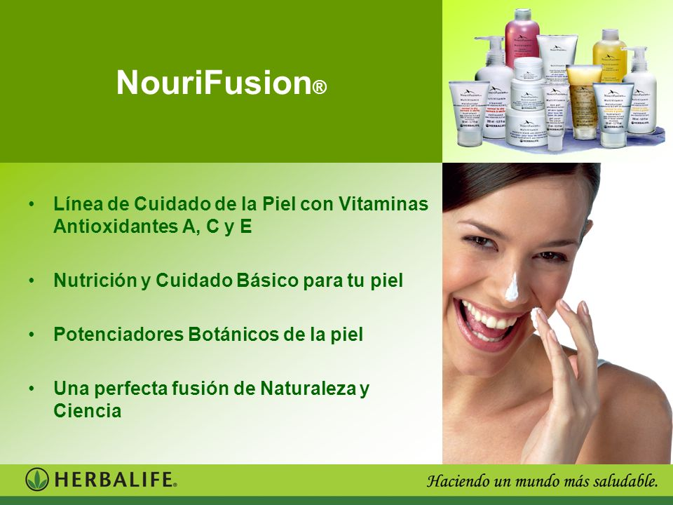 NouriFusion ® Línea de Cuidado de la Piel con Vitaminas Antioxidantes A, C y E Nutrición y Cuidado Básico para tu piel Potenciadores Botánicos de la p
