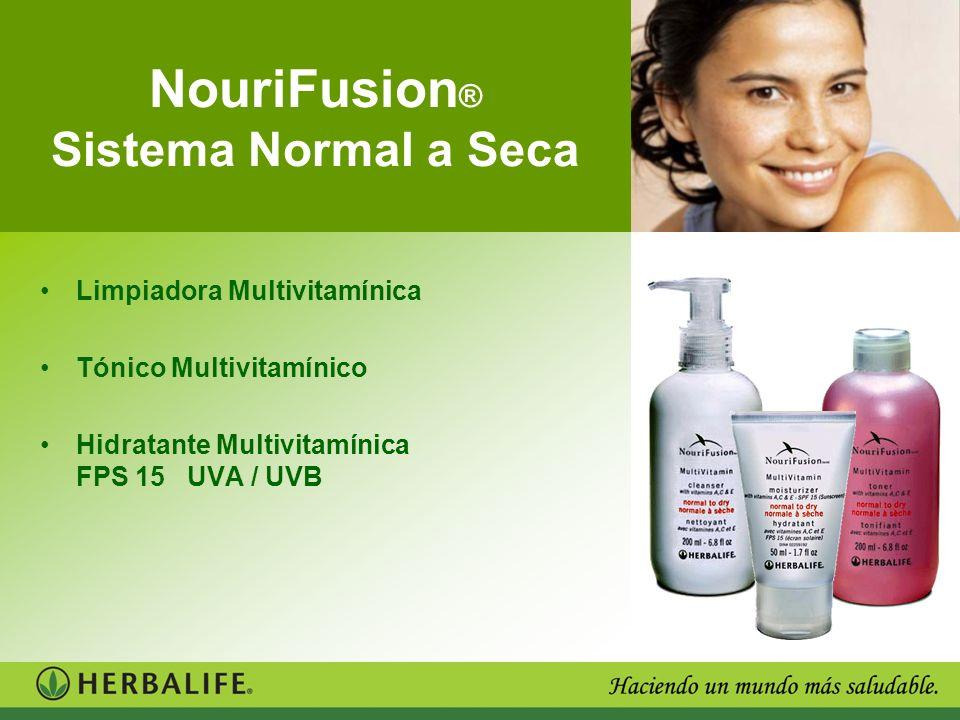 NouriFusion ® Sistema Normal a Seca Limpiadora Multivitamínica Tónico Multivitamínico Hidratante Multivitamínica FPS 15 UVA / UVB