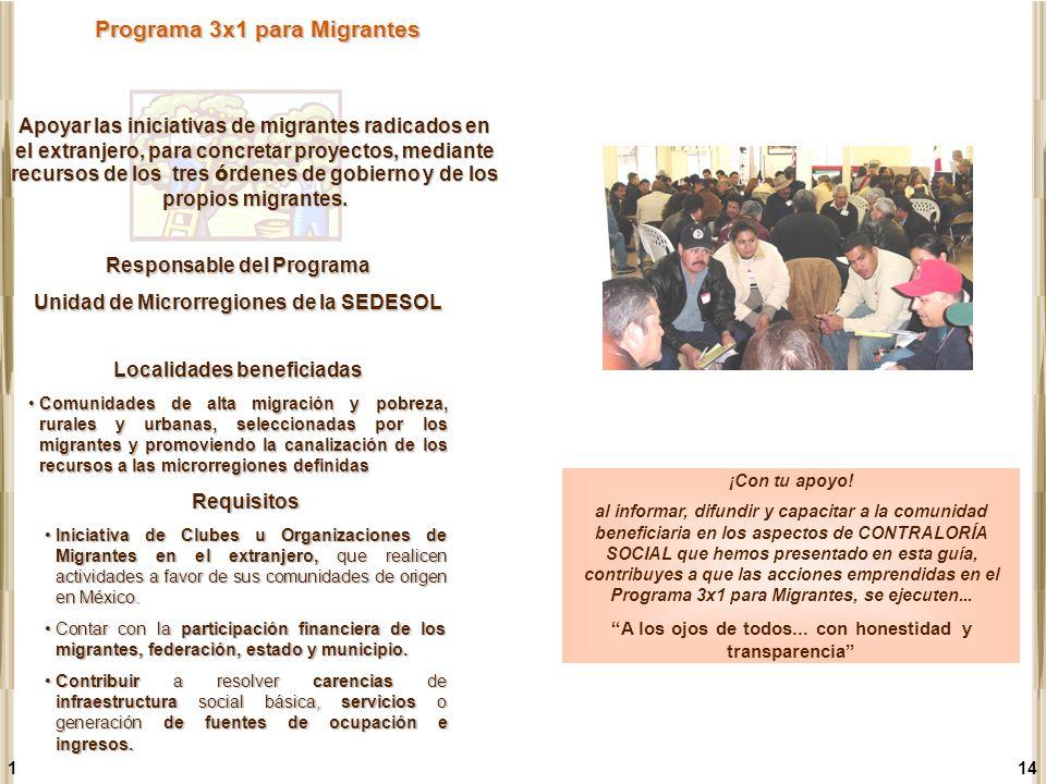 1 Programa 3x1 para Migrantes Requisitos Iniciativa de Clubes u Organizaciones de Migrantes en el extranjero, que realicen actividades a favor de sus