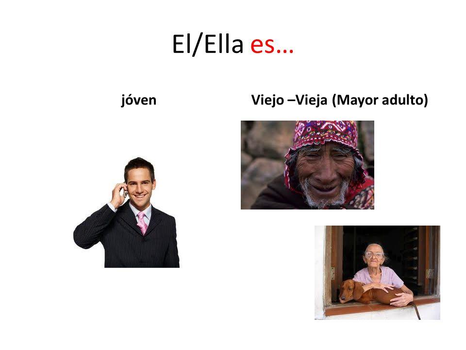 El/Ella es… jóvenViejo –Vieja (Mayor adulto)