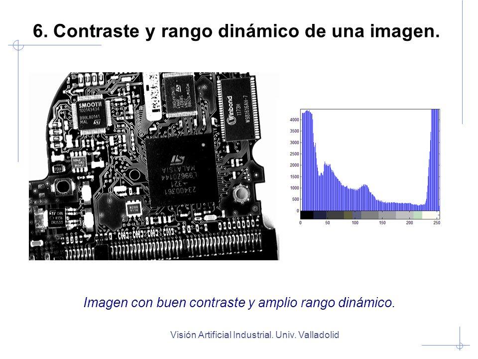 Visión Artificial Industrial. Univ. Valladolid Imagen con buen contraste y amplio rango dinámico. 6. Contraste y rango dinámico de una imagen.