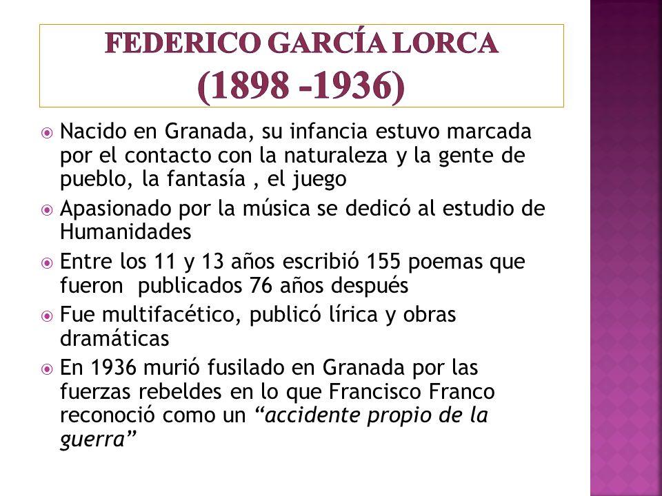 Nacido en Granada, su infancia estuvo marcada por el contacto con la naturaleza y la gente de pueblo, la fantasía, el juego Apasionado por la música s